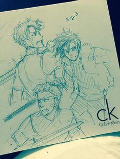 Percy, Nico y Jason