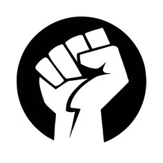 the raised fist symbolizes revolution and defiance, it is used