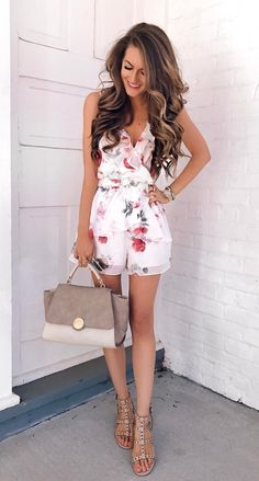 Сool Summer Outfit Ideas To Fell In Love With Spring Summer Fashion, Spring Outfits, Spring Ootd, Spring Dresses, Spring Style, Mode Outfits, Fashion Outfits, Cute Floral Dresses, Floral Romper