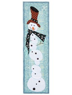 Tipsy Snowman Quilt Pattern With Buttons Pack Tree Quilt Pattern, Easy Quilt Patterns, Tree Patterns, Quilting Projects, Sewing Projects, Snowman Quilt, Annie's Crochet, Christmas Quilt Patterns, Single Quilt