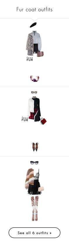 """Fur coat outfits"" by cattrina-k ❤ liked on Polyvore featuring Jimmy Choo, Yves Saint Laurent, Joomi Lim, Gucci, Karl Lagerfeld, Marni, Maison Margiela, RED Valentino, Les Petits Joueurs and Anna-Karin Karlsson"