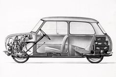 This year BMW Group Classic marks a number of anniversaries at Techno Classica in Essen, Germany. BMW celebrates 80 years of automobile production. Mini Morris, Classic Mini, Classic Cars, Cutaway, Bmw, Techno, Dream Cars, Auto Poster, Austin Mini