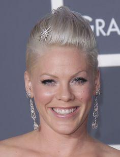 Pinks Elegant Grammy Hairstyle!