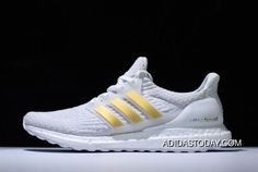 7d385b09fd3 Adidas Ultra Boost 3.0 White Gold BA7680 Mens Shoes New Style