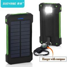 Waterproof Solar Power Bank Smartphone charger for camping and outdoors Hot Top Solar Power Bank Waterproof Solar Charger 2 USB Ports External Charger Powerbank for Xiaomi Samsung iPhone . Solar Power Energy, Portable Solar Power, Solar Energy System, In China, Usb, Solar Panel Charger, Best Solar Panels, Solar Battery, Solar Lights