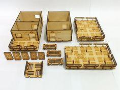8 Systema Gaming Base-0 Habitat Units 1 and 2 MDF Wargaming Terrain Infinity 40k