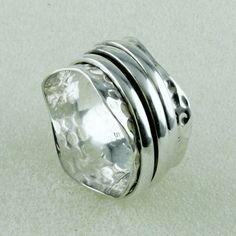 Attractive High Quality Low Weight Spinnig Ring _Hand Made 925 Sterling Siver #SilvexImagesIndiaPvtLtd #Band