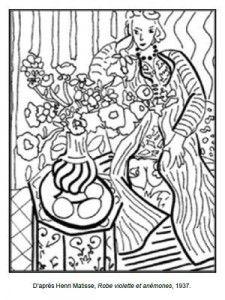 71 coloriages duvres dartistes peintres imprimer matisse arthenri matissecolor sheetsfamous