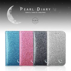 Pearl Diary Case for Galaxy S3 III & S4 IV & Note 2 II