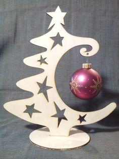 Sapin de Noël moderne en bois : Accessoires de maison par emeeeline