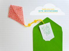Kite party invitations