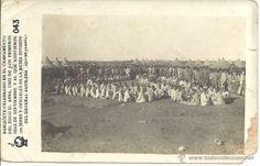 PS0024 1912 ALFONSO XIII - CAMPAÑA DE MARRUECOS - BANQUETE CAMPAMENTO DEL ZOCO EL ARBA - FOTOGRÁFICA