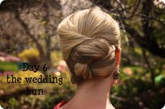 DIY updo tutorial.  easy and fast, I love it