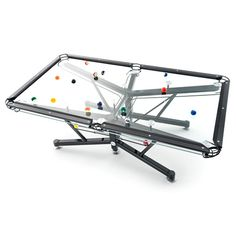 Making every other pool table you've racked up on seem utterly prehistoric, this stunning glass table features a fully-visible ball-return mechanism within a skeletal aluminium frame. Topped with a patented Vitrik playing surface that plays just like baize, the award-winning G-1 is clearly revolutionary. Your break...