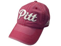 6474dad14eb Pitt Script Adjustable Adidas Slouch Hat - Vintage Red College Hats