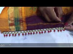 In this video you will learn how to make beaded crystal saree border. Its different from saree kuchu designs. Its looks good on work sarees. Try this design . Saree Tassels Designs, Saree Kuchu Designs, Ladies Club, Saree Border, Embroidery Works, Work Sarees, Traditional Sarees, Woman Clothing, Embroidered Blouse