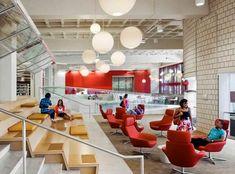 New Library Seating Area Learning Spaces Ideas Interior Design Institute, Interior Design Colleges, Interior Design Awards, Best Interior Design, Color Interior, University Interior Design, Commercial Design, Commercial Interiors, Best Office