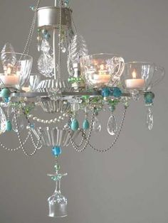 Unique Lighting Fixtures | 21 Unique Lighting Design Ideas Recycling Tableware and Kitchen ...