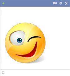 Winkink smiley for Facebook