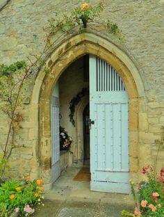 raindropsonroses-65: Church door with flowers, St. Mary the Virgin, Charlton on Otmoor, Cherwell, Oxford, England (All Original Photography by vwcampervan-aldridge.tumblr.com)