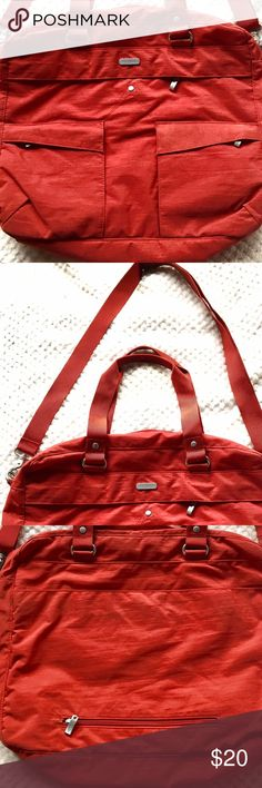 NWOT Baggallini Large LapTop and Files Office Bag Tan/Orange Baggallini ToTe; Perfect Size for Organizing File Folders and LapTop; Baggallini Bags Laptop Bags