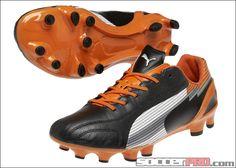 Puma evoSPEED 1 K FG Soccer Cleats - Black with White and Team Orange. 978881923f6e8