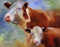 Hey, I found this really awesome Etsy listing at https://www.etsy.com/listing/46242120/hereford-cow-art-print-of-my-watercolor