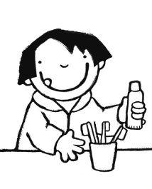 Boektoppers kleurplaat jongste kleuters_Anna poetst haar tanden1 Dental, Kids, School, Oral Hygiene, Young Children, Children, Kid, Schools, Teeth