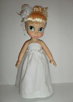 Robe de cérémonie + barette pour poupée Animator, Cinderella doll