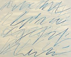 Cy Twombly, Roman Notes, 1970. Gouache and wax crayon.