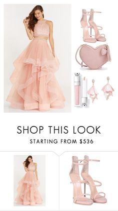 """pink"" by nurawkaa ❤ liked on Polyvore featuring Alyce Paris, Giuseppe Zanotti and Oscar de la Renta Pink Label"