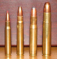 .30-06 Springfield, .375 Holland & Holland Magnum, .404 Jeffrey and .505 Gibbs.