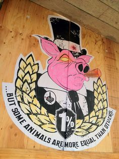 """Street art """"Pig Bombing"""" by Destroy All Design ---> Repinned by www.gers.nl"""
