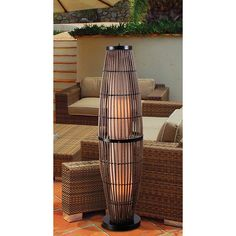 Kenroy Home Biscayne Indoor/outdoor Rattan Floor Lamp - Grace your patio with the beauty of the Kenroy Home Biscayne lamp designed for indoor and outdoor use. Style and function combine in this Biscayne lamp. Outdoor Floor Lamps, Outdoor Flooring, Indoor Outdoor, Home Lighting, Outdoor Lighting, Cool Lamps, Diy Lamps, Outdoor Projects