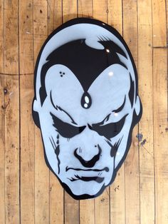 """""""Vision"""" by Jason Rowland  Aerosol, stencil and poly resin coating on wood  Available at GalerieF.com"""