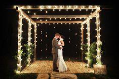 Decoração de casamento com luzes