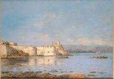 Eugène Boudin, Le port d'Antibes, 1893 Huile sur toile 46x66cm Paris, musée d'Orsay (dépôt au musée des Beaux-Arts Jules Chéret/Nice), donation de la Duchesse de Windsor en souvenir de SAR le Duc de Windsor