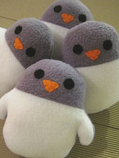 Handmade mini plush penguin