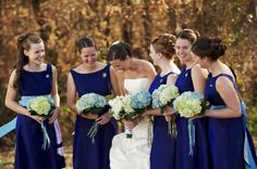 Bouquet Bridal: Hydrangea Wedding Flowers - in season for late summer/early fall