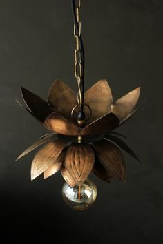 Brass Flower Ceiling Light
