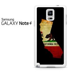 California State Grunge Samsung Galaxy Note 4 Case