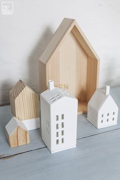 Eine kleine Stadt mit kleinen Häusern. Wo jedes Haus in Sorgfalt handgefertigt ist. Hier gibt es große Stadthäuser und kleine Traumhäuser.