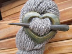 Wooden Heart Shawl Pin  Handmade Wooden Shawl by woolymossroots, $35.00