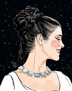 via ccimoroni illustration - Carrie Fisher as Princess Leia Star Wars Prints, Star Wars Art, Leia Star Wars, Han And Leia, Original Trilogy, Star War 3, Carrie Fisher, Princess Leia, Space Princess