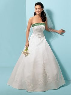 I want green on my wedding dress