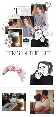 """""""Starbucks~Suho"""" by niamho99 ❤ liked on Polyvore featuring art"""