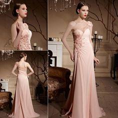 プリンセススタイル ピンクのワンショルダー袖つきロングドレス♪ - ロングドレス・パーティードレスはGN|演奏会や結婚式に大活躍!