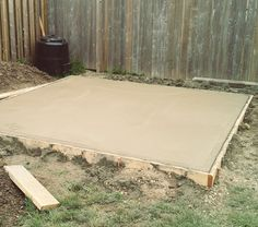 My. Daily. Randomness.: Project Backyard: Pouring a Concrete Pad