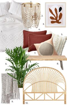 RE-CREATE THE LOOK: 3 White Minimalist Boho Bedrooms Bohemian Chic Home, Modern Bohemian, Duvet Sets, Duvet Cover Sets, Wall Paint Inspiration, Green Painted Walls, Grey Throw Blanket, Bohemian Interior Design, Shared Bedrooms