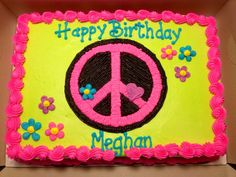 - Neon Colors Peace Sign